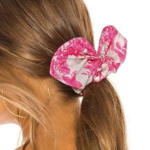 LoveShackFancy Promenade Scrunchie in Pink